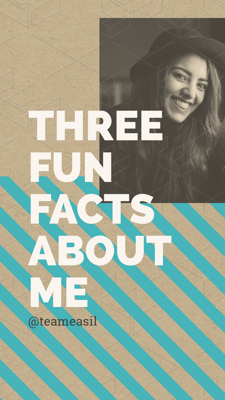 Three Fun Facts About Me Profile Template