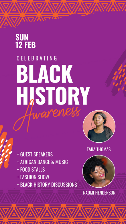 Celebrating Black History Awareness Month Template