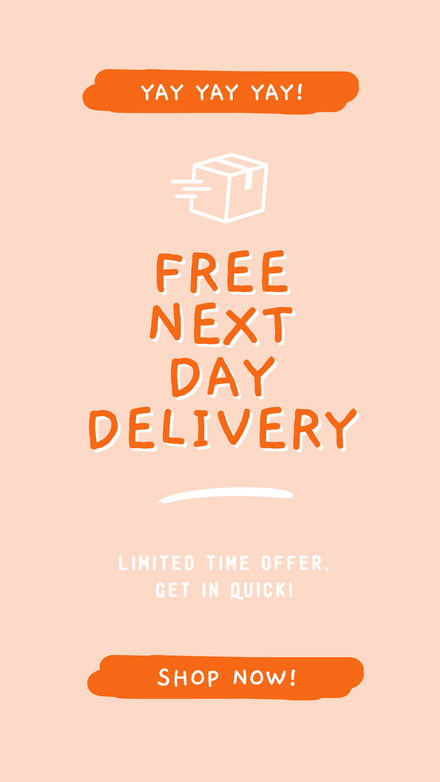 eCommerce Free Delivery Offer: Hand Drawn