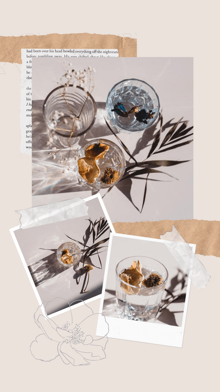 Polaroids & Brown Paper Collage Template
