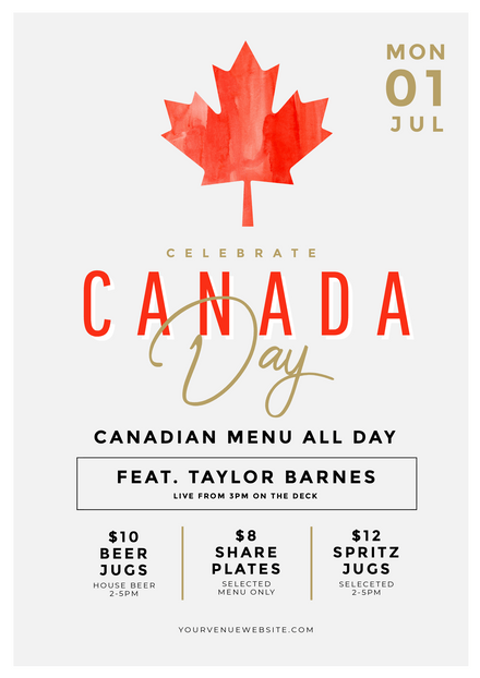 Simple Canada Day Promotional Template
