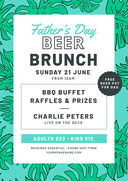 Father's Day Beer Brunch