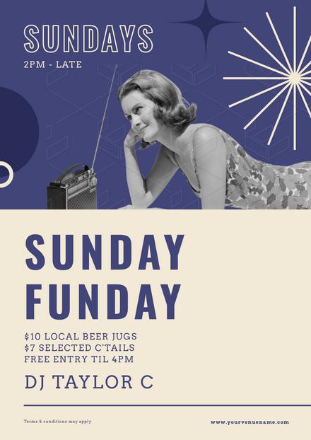 Sunday Funday - Vintage Style Template