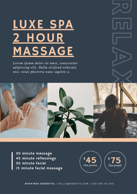 Luxe Day Spa Offer Template