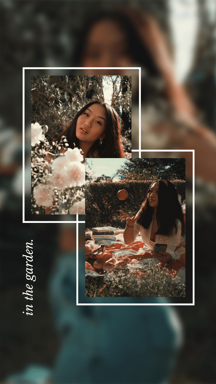 Simple Layered Photo Frames with Blurred Background