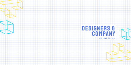Grid with Geometric Shapes LinkedIn Cover