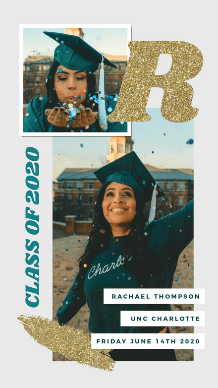 Collage: Graduation Glitter
