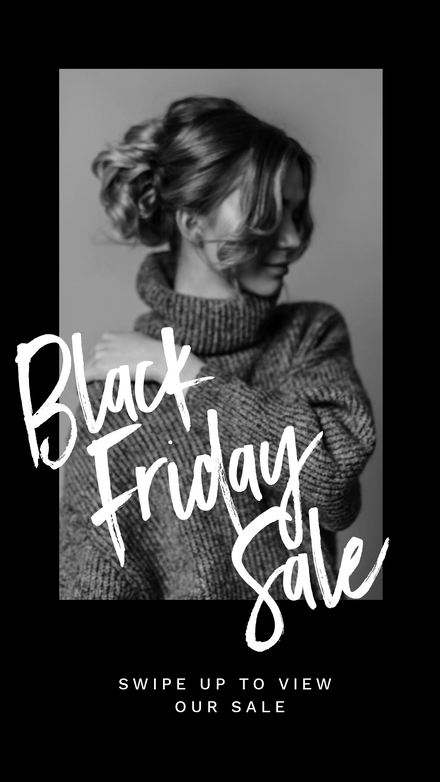 Black & White Image Black Friday Sale Template