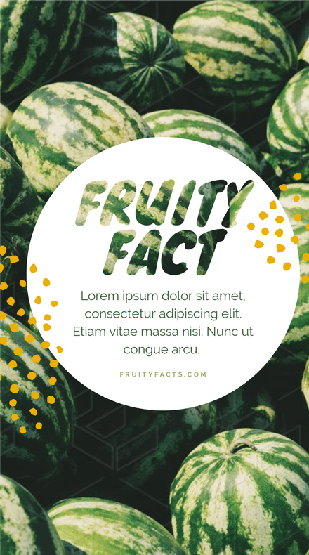 Fruity Fact Story Template