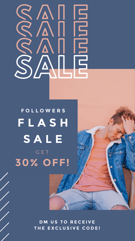 Followers Flash Sale - Discount Code Template