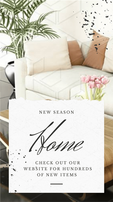 New Season Home design with Paper overlay