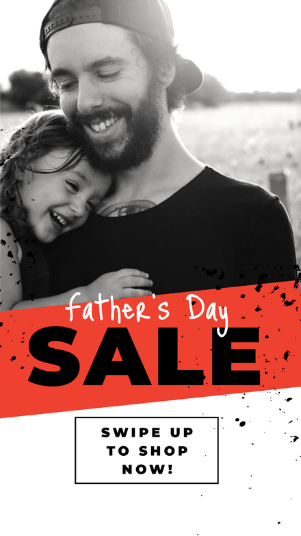 Father's Day Sale Orange Grunge Photo
