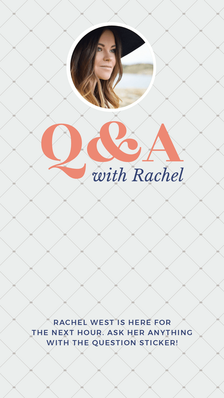 Q&A Instagram Story Question Template