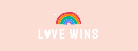 Love Wins Rainbow Graphic Template