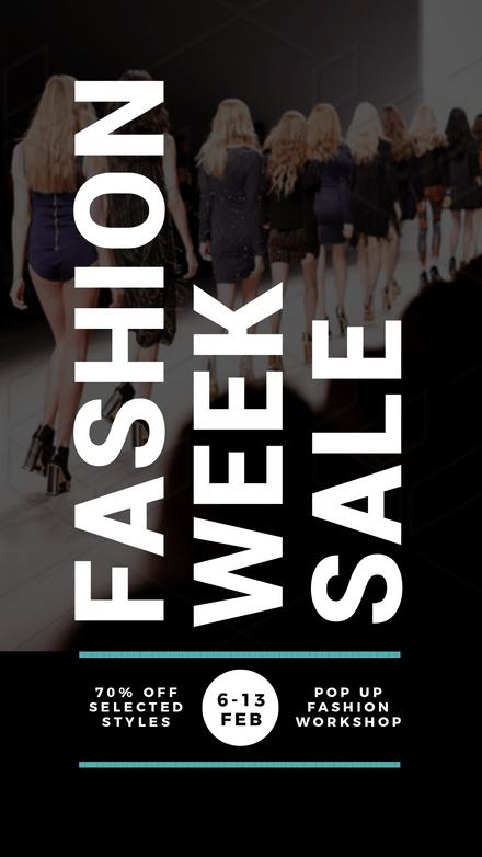 Bold Fashion Week Sale Template