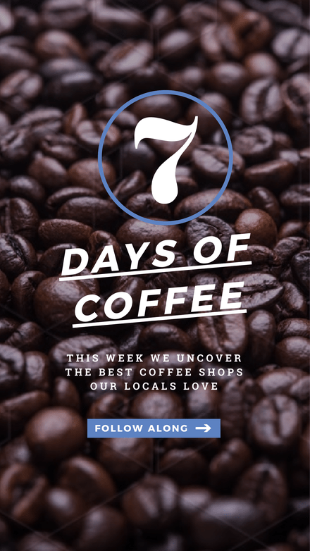 Coffee Themed Instagram Story Template