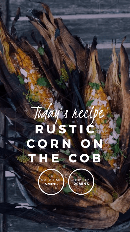 New Recipe Feature Instagram Story Template