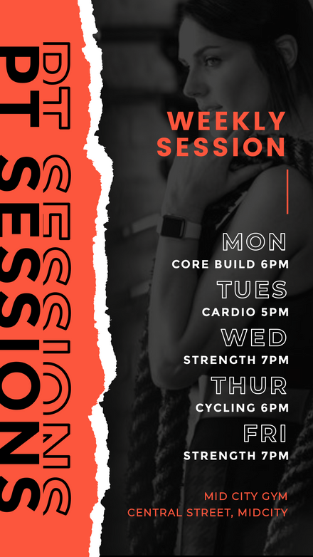 PT Sessions - Torn Paper Style Template