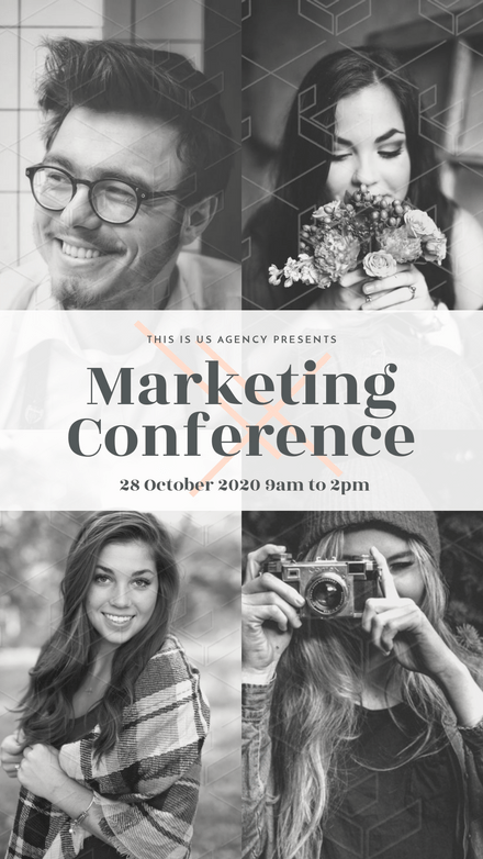 Quad Image Grid - Marketing Conference Template