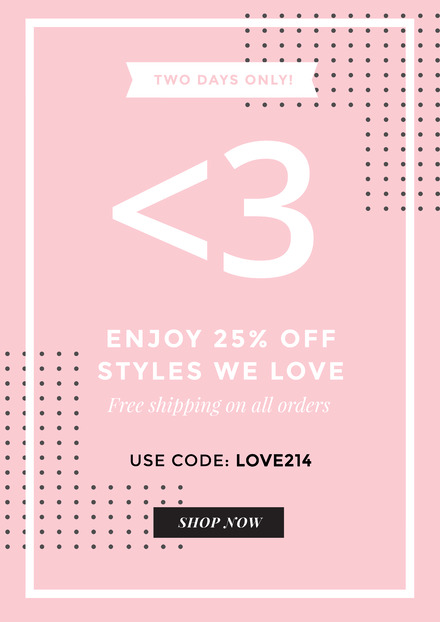 Pink Background Valentine's Day Sale Design