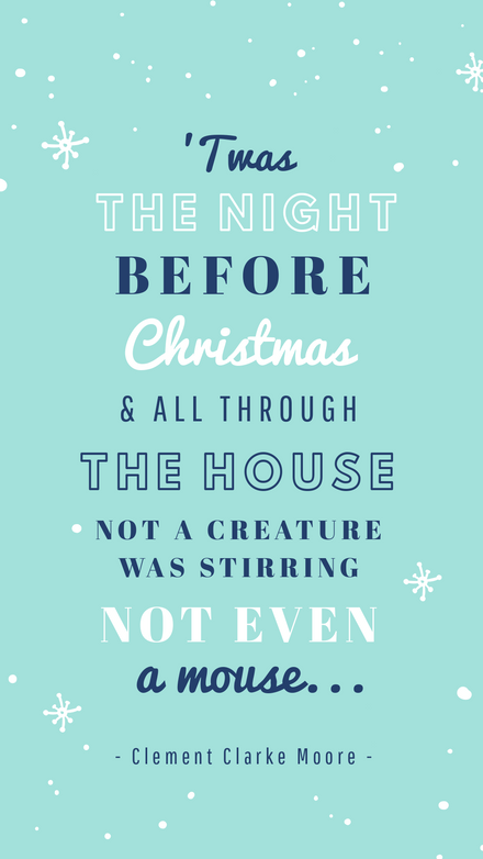 'Twas the Night Before Christmas Graphic Template