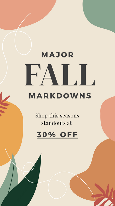 Major Fall Markdowns Graphic Template