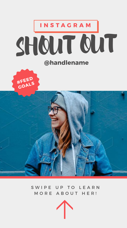 Instagram Shout Out Profile with Swipe Up Callout