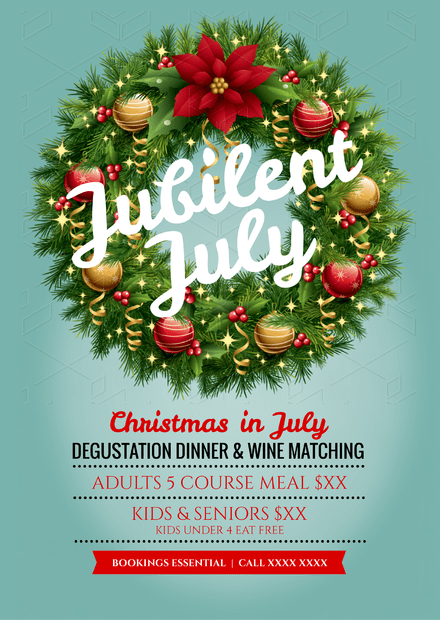 Jubilent July - Christmas template with elaborate wreath feature