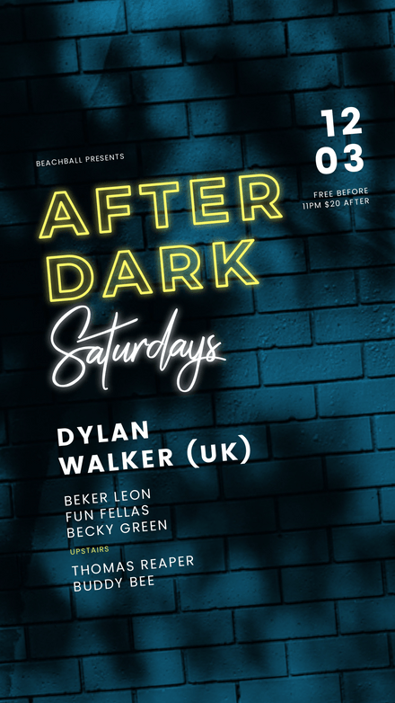 After Dark Event Template on Brick Wall