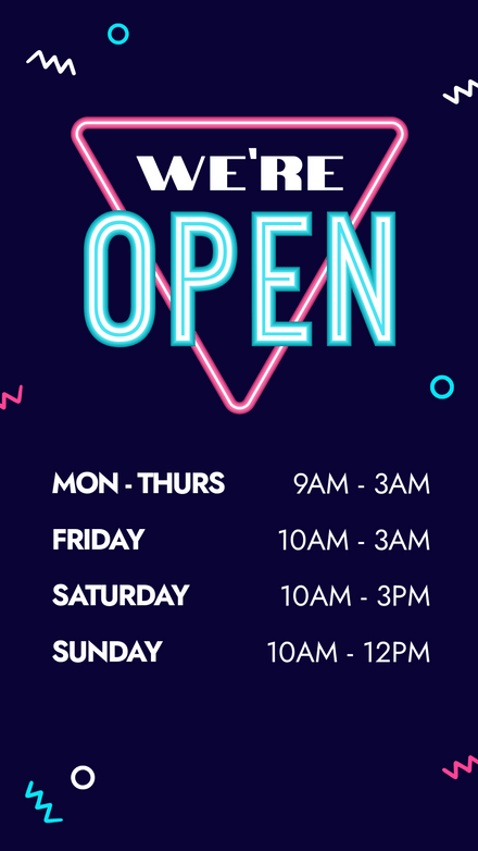 We're Open - Neon Sign Graphic Template
