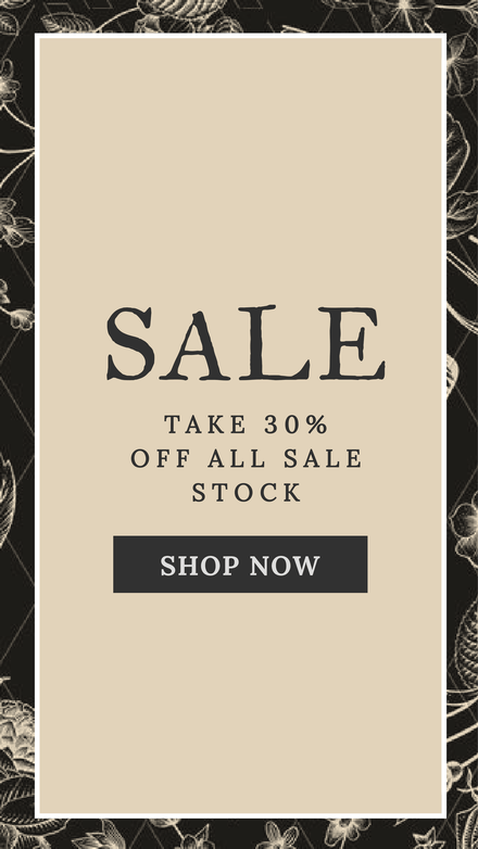 Enjoy 30% Off Sale Retail Graphic Template with Floral Background