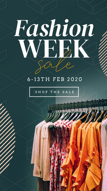 Fashion Week Sale Clothing Rack Template
