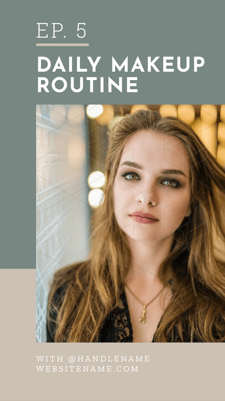 Daily Makeup Routine IGTV Cover Template