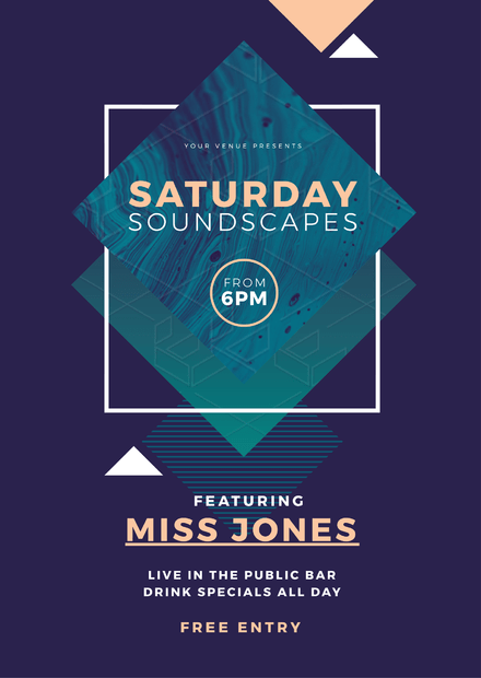 Saturday Soundscapes - Nightclub Promotion Template