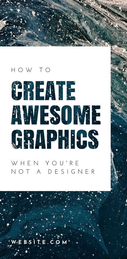 How to Create Awesome Graphics - Text Masked Template