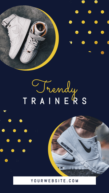 Trendy Trainers Gold Spotty Template