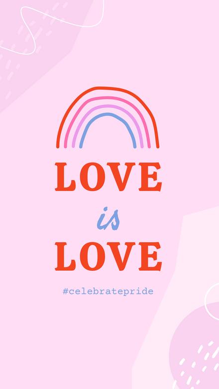 Love is Love Hand drawn Rainbow Template