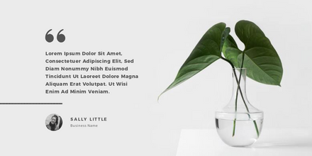 Quote Template - White & Charcoal Grey with Plant