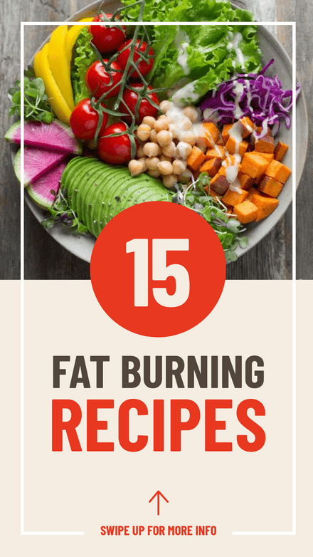 15 Fat Burning Recipes Graphic Template
