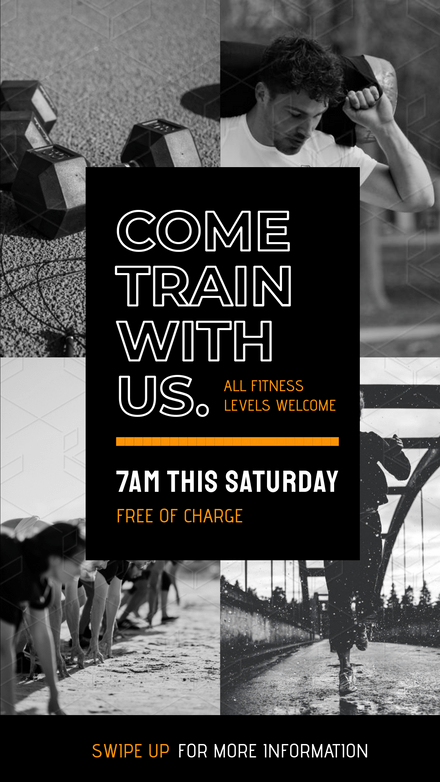 Train with Us - Free Session Graphic Template
