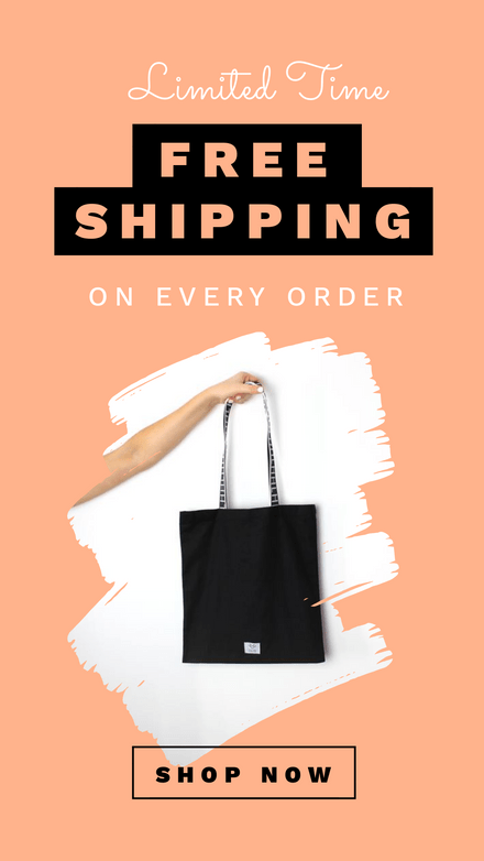 Free Shipping Retail Peach & White Template