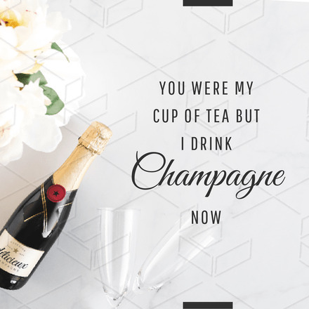 Champagne Text Graphic