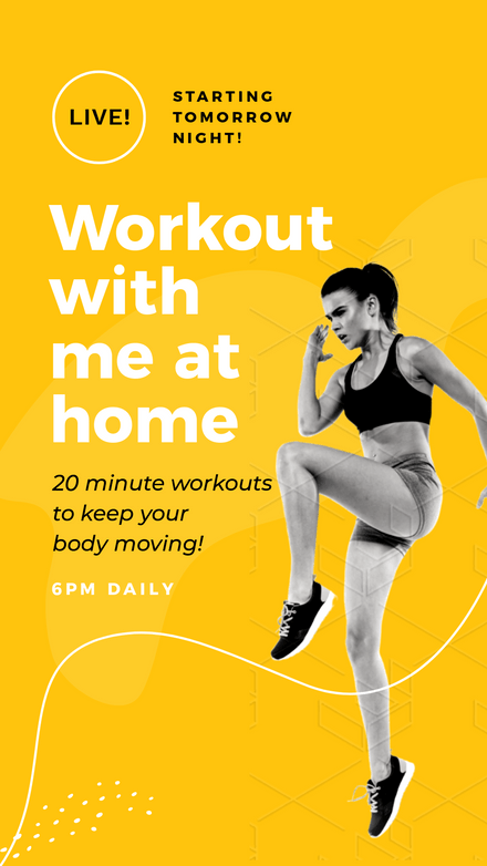 Workout Fitness Graphic Template - Yellow