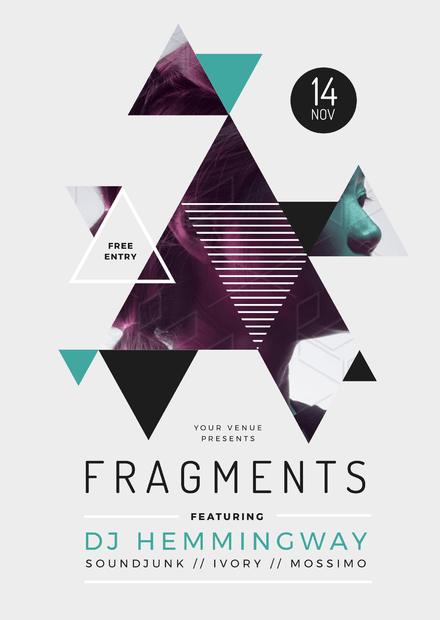 Fragments Geometric Nightclub Promotion Template