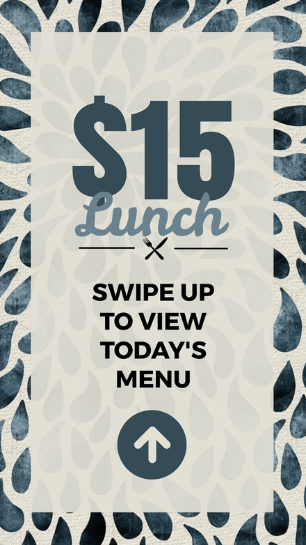 $15 Lunch Special Menu