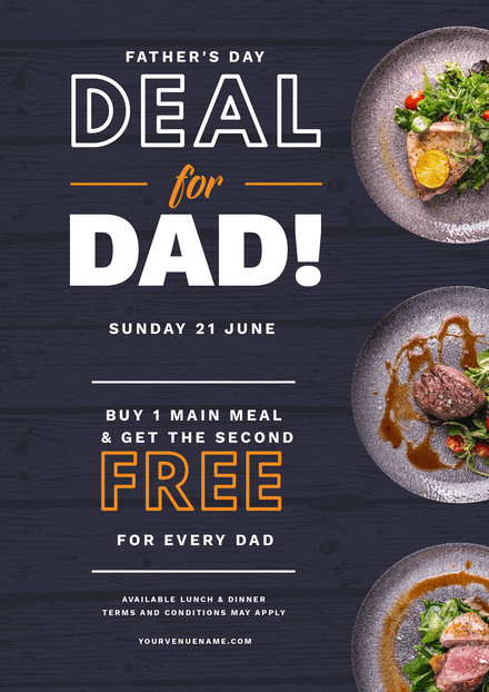 Deal for dad 3 Dish Showcase Template
