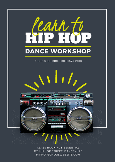 Learn To Hip Hop Dance Workshop Flyer Template