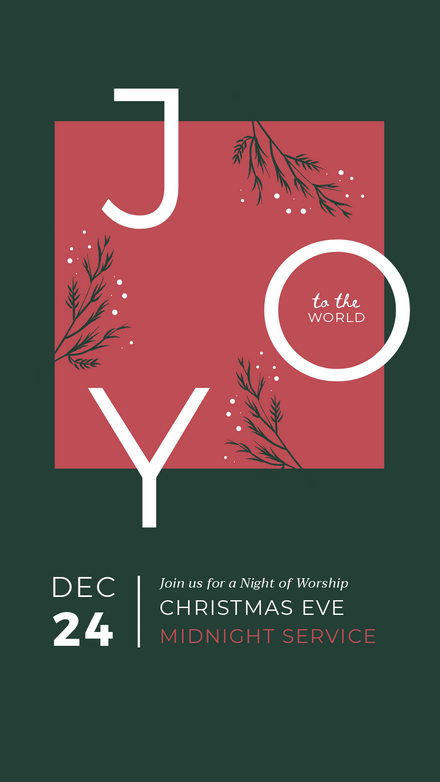 Joy to the World Christmas Eve Service Template