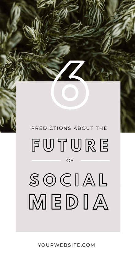 The Future of Social Media - Blog Promotion Graphic Template
