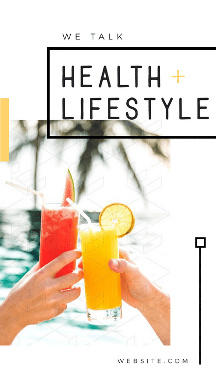 Health and Lifestyle 5 page Instagram Story Template